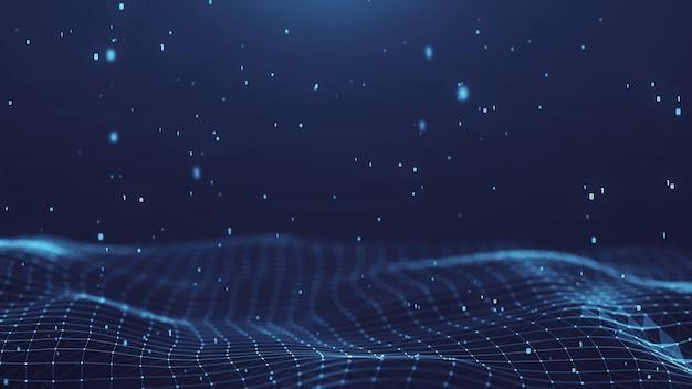 Plexus réseau abstrait titres technologie fond numérique. forme géométrique. Photo Premium