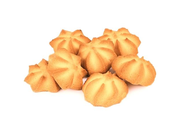 Plusieurs Biscuits Sablés Alléchants Isolés Photo Premium