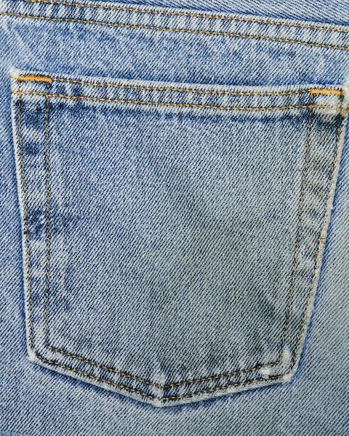 Poche arrière sur un jean en gros plan Photo gratuit