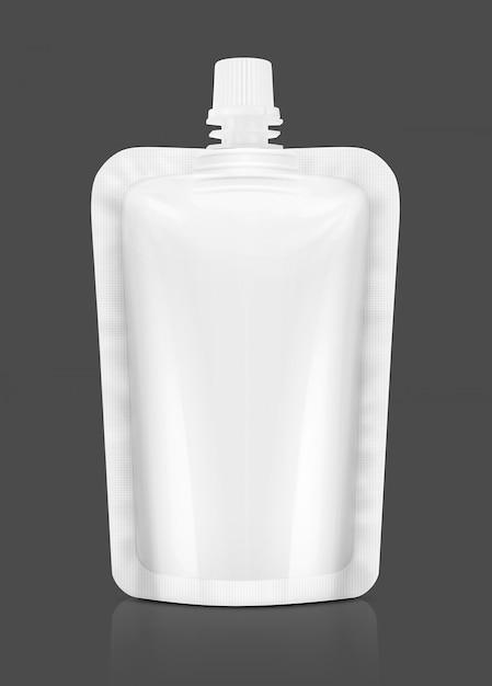 Pochette en aluminium pour la conception de produits alimentaires ou de boissons Photo Premium