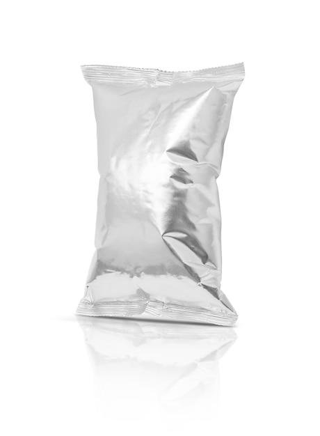 Pochette de collation feuille d'emballage vide isolé Photo Premium