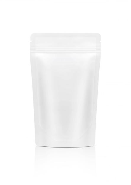 Pochette à glissière blanche isolée Photo Premium
