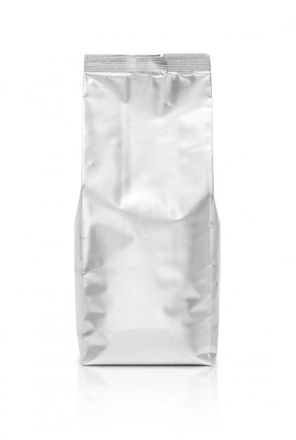 Pochette vide en aluminium isolée Photo Premium