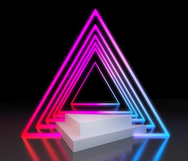 Podium coloré néon pour la présentation du produit Photo Premium