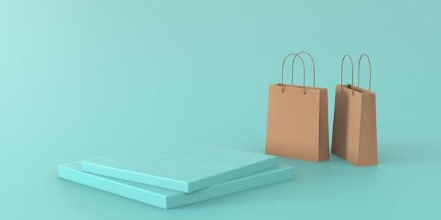 Podium Pastel Vert Rendu 3d Pour Le Produit Photo Premium
