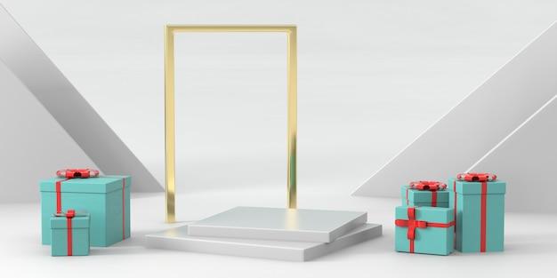 Podium Rendu 3d Pour Produits De Luxe Photo Premium