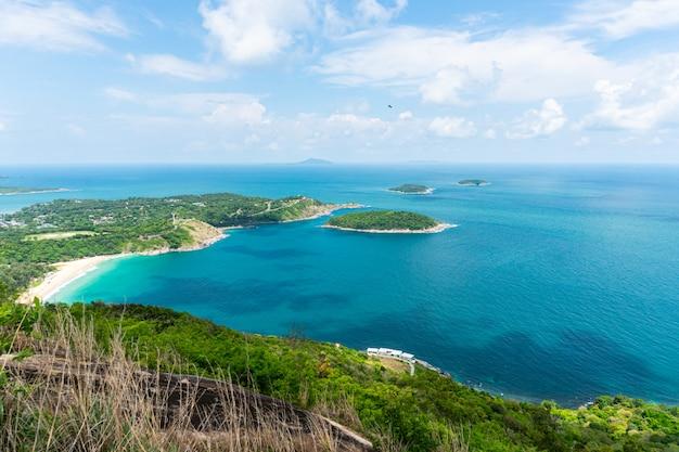 Point de vue mer océan à phuket thaïlande. Photo Premium