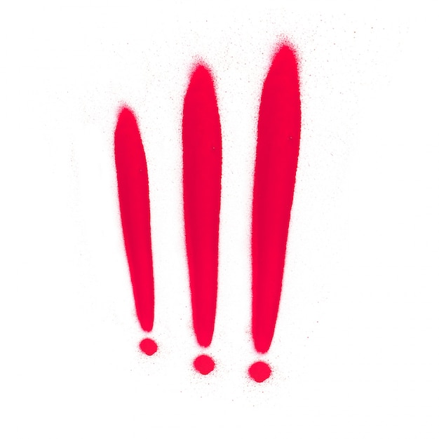Points D'exclamation Rouges Photo gratuit
