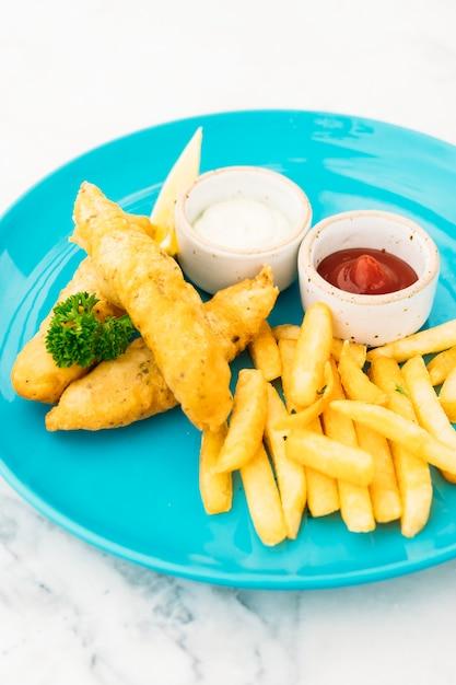 Poisson et frites Photo gratuit