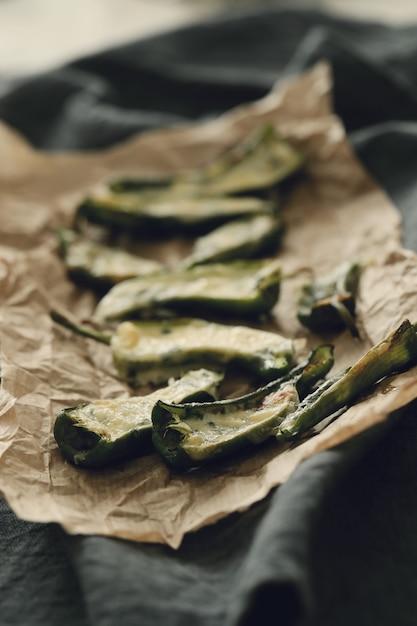 Poivrons Frits Farcis. Tapas Espagnoles Traditionnelles Photo gratuit