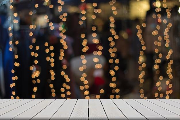 Polices en bois floue, abstraite Photo Premium