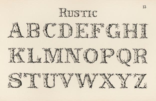 Polices de calligraphie rustique Photo gratuit