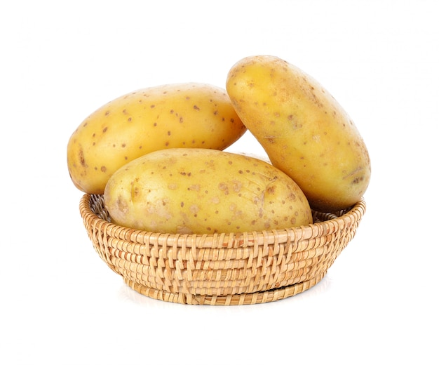 Pomme de terre isolé sur blanc Photo Premium
