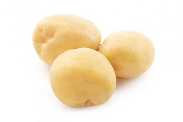Pomme de terre isolé sur fond blanc Photo Premium