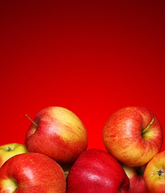 Pommes Fraîches Et Savoureuses Photo gratuit