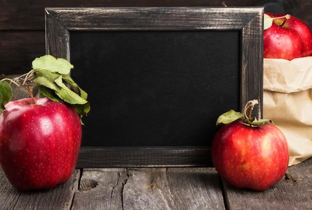 Pommes et tableau Photo Premium