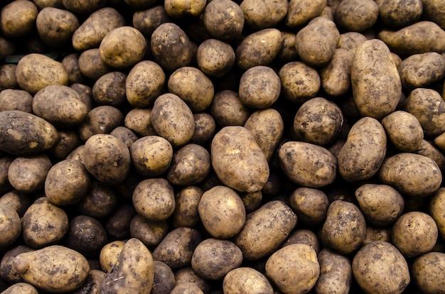 Pommes De Terre Biologiques Fraîches Vendues Sur Le Marché Photo Premium