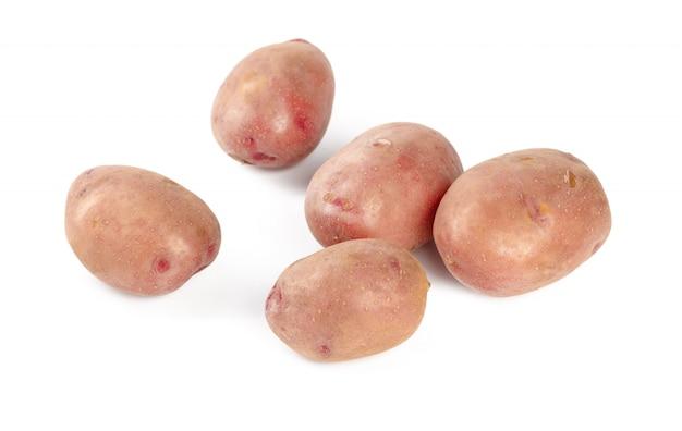 Pommes de terre isolés sur blanc Photo Premium