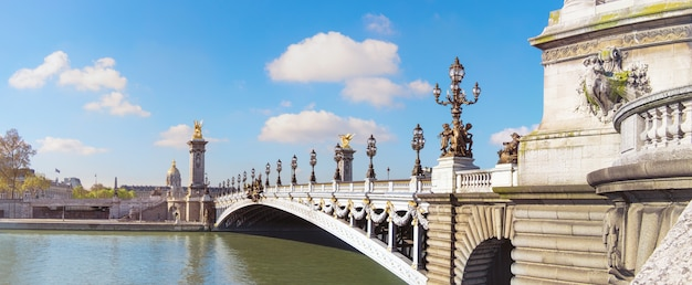 Pont alexandre à paris Photo Premium