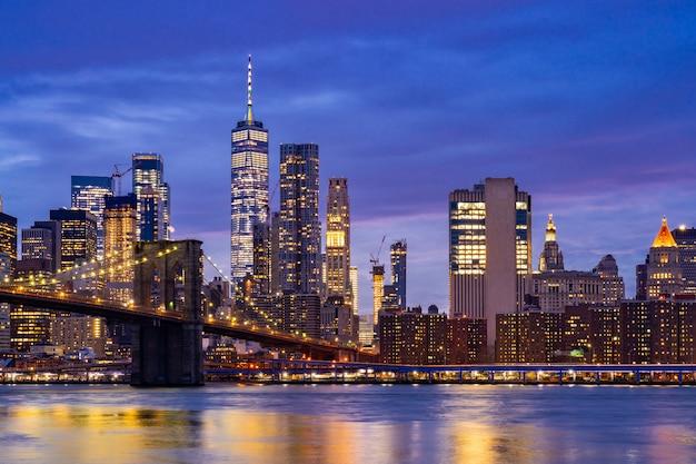 Pont de brooklyn à new york Photo Premium