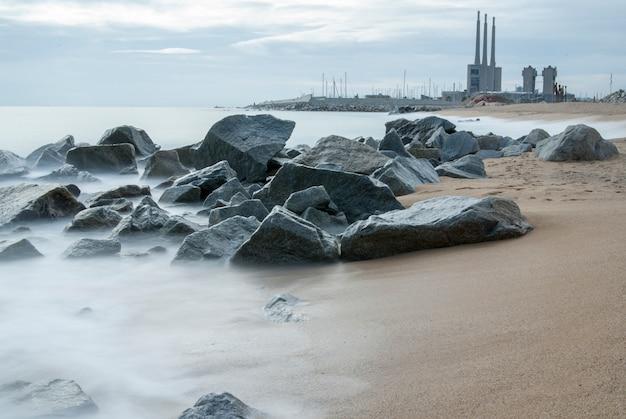 Pont del petroli, badalona, espagne Photo Premium