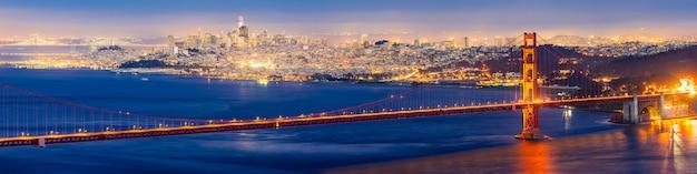 Pont Du Golden Gate Sunset Photo Premium