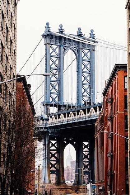 Pont de manhattan à new york Photo gratuit