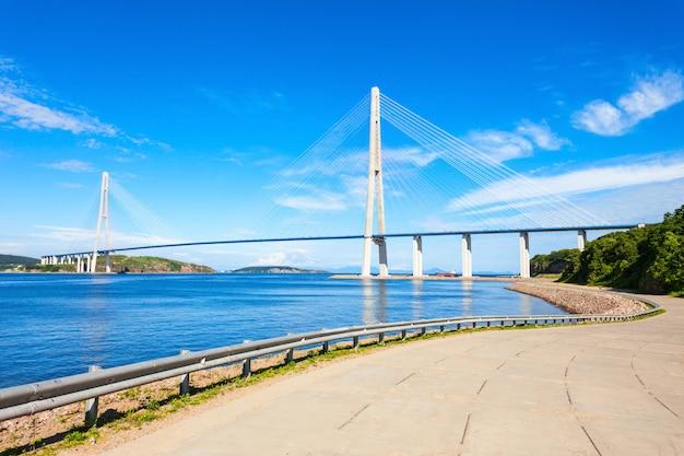 Pont russe russe, vladivostok Photo Premium