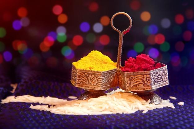 Pooja thali Photo Premium