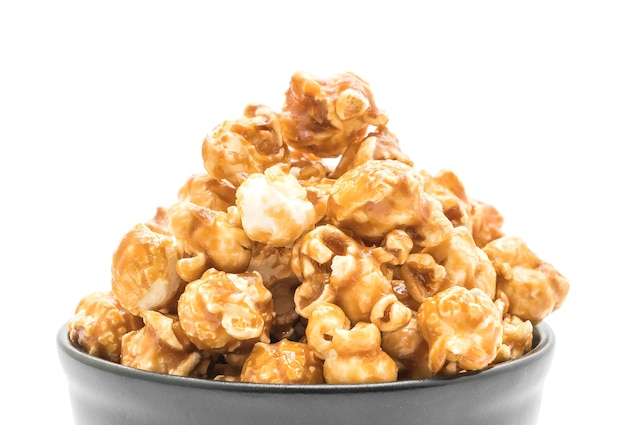 Pop-corn au caramel Photo Premium