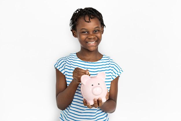 Portarit d'une jeune fille afro-américaine Photo gratuit