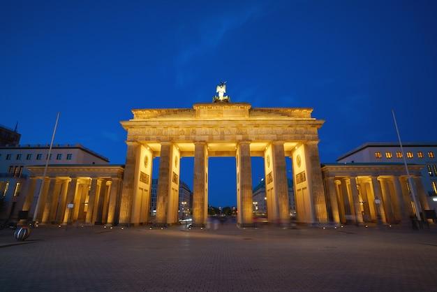 Porte de berlin brandebourg brandenburger tor Photo Premium