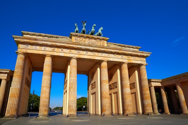 Porte de berlin brandebourg brandenburger tor Photo Premium