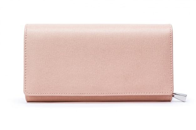Porte-monnaie en cuir pour femme isolé Photo Premium