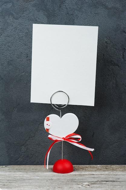 Porte photo avec carte vierge Photo Premium