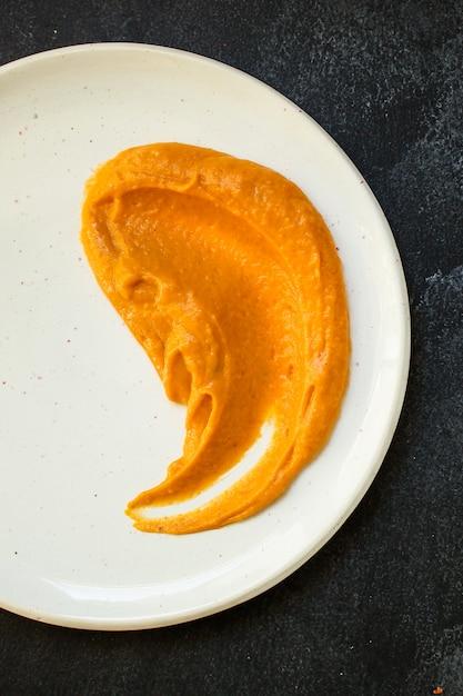 Portion Citrouille Et Dinde Ou Poulet Photo Premium