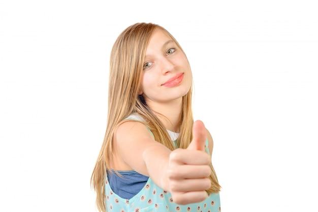 Portrait d'un adolescent est ok Photo Premium
