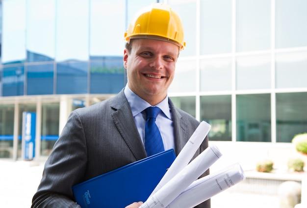 Portrait d'architecte Photo Premium