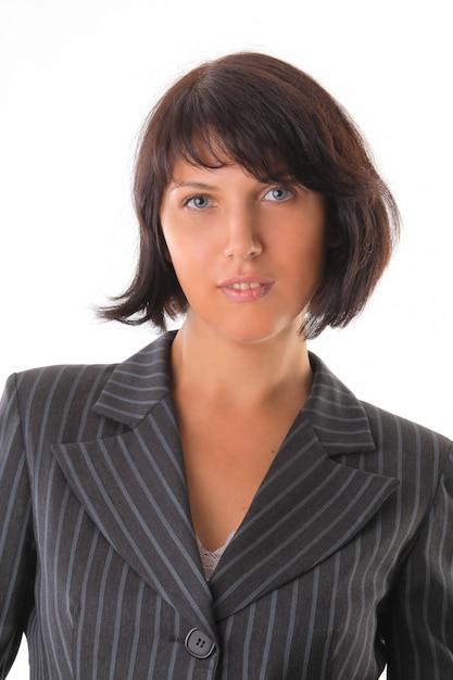 Portrait D'une Belle Femme D'affaires Photo Premium