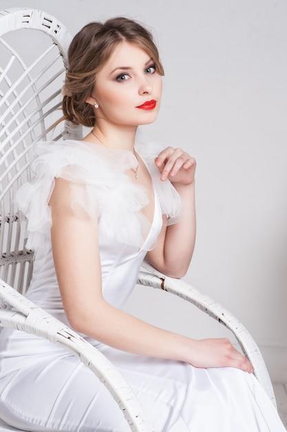 Portrait de la belle mariée. Photo Premium