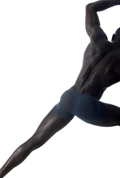 Portrait complet d'un homme noir Photo Premium