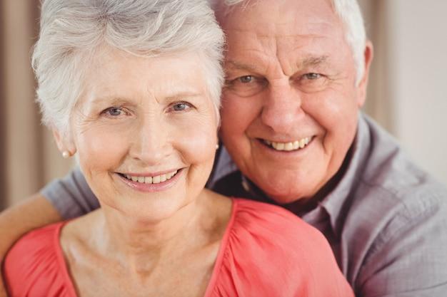 Portrait, de, couples aînés, sourire Photo Premium