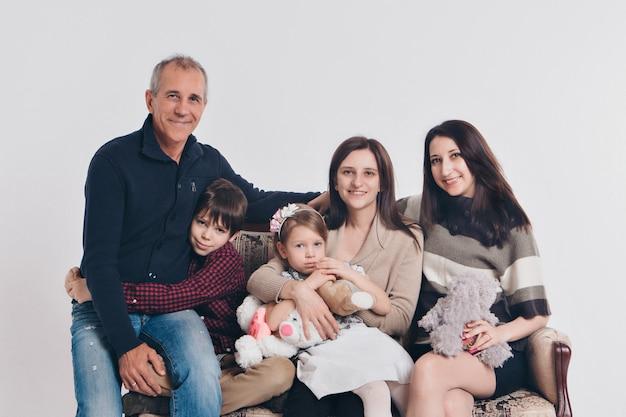 Portrait de famille Photo Premium