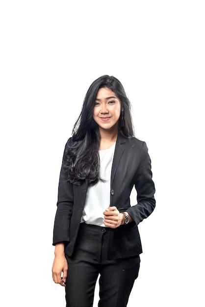 Portrait de femme d'affaires asiatiques avec des vêtements Photo Premium