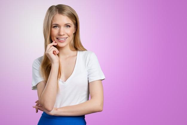 Portrait de femme d'affaires Photo Premium