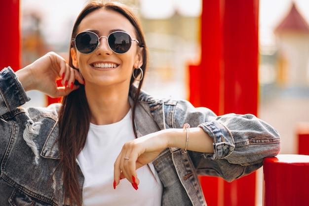 Portrait de femme heureuse Photo gratuit