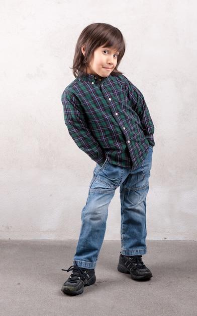 Portrait de garçon modèle Photo Premium