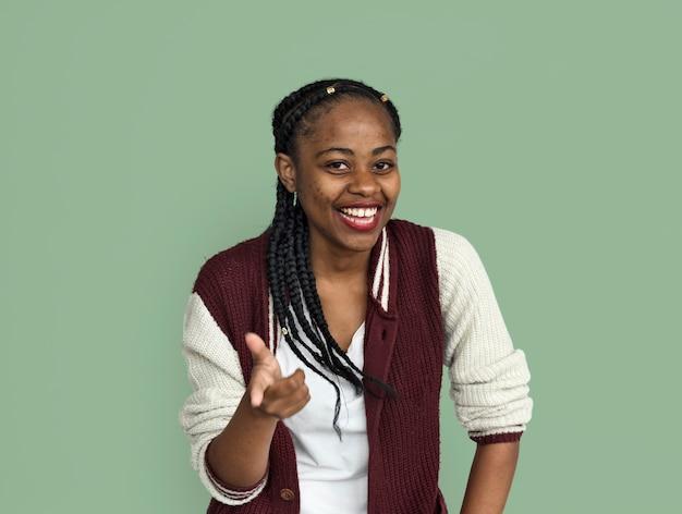 Jeune dame noire