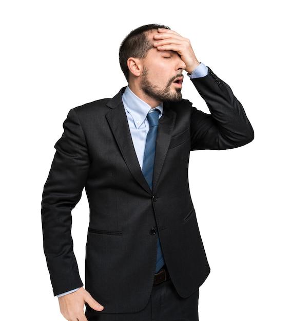 Portrait d'homme d'affaires désespéré Photo Premium