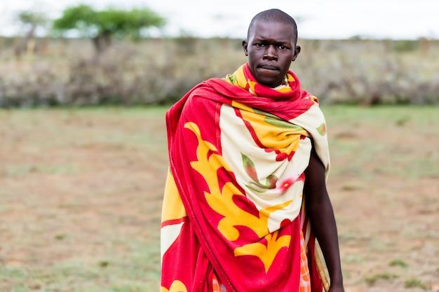 Portrait d'homme massaï Photo Premium